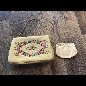 Vent Floral bag embroidered needlepoint handbag